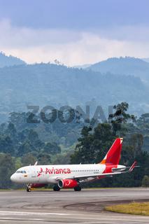 Avianca Airbus A319 airplane Medellin airport