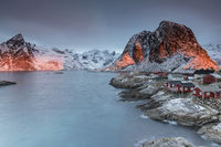 Hamnoy to the sunrise