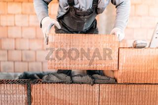 masonry details, close up construction mason builing interior walls