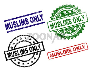 Grunge Textured MUSLIMS ONLY Seal Stamps