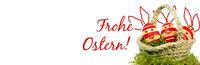 Ostern, Osterkarte, Frohe Ostern, Osternest, Banner, Header, Headline, Panorama, Textraum, copy spac