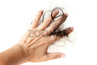 Lost hair isolated