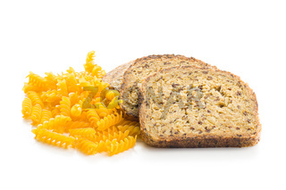 Gluten Free Bread and pasta.