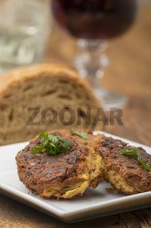 Falafel und Rotwein