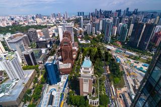 Panorama of the skyline of Singapore