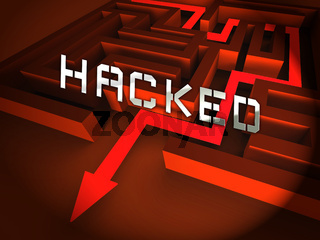 Website Hacked Cyber Security Alert 3d Illustration