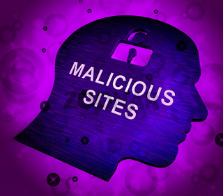 Malicious Site Website Infection Warning 3d Rendering