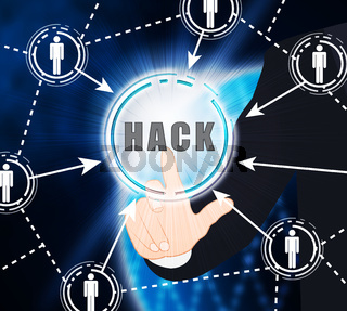 Website Hacked Cyber Security Alert 2d Illustration
