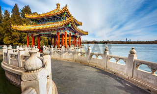 In Beihai Park in Beijing China