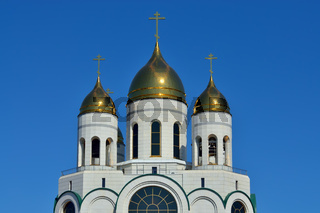 Domes of Cathedral of Christ the Saviour. Kaliningrad, Russia
