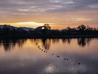 Tring Reservoir at Sunset