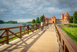 Trakai castle on an Island of Galve Lake, Lithuania