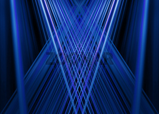 Blue light beams background