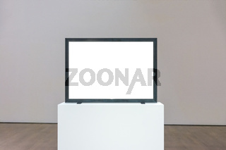 Modern Art Museum Frame Wall Clipping Path Isolated White Vector Illustration Template