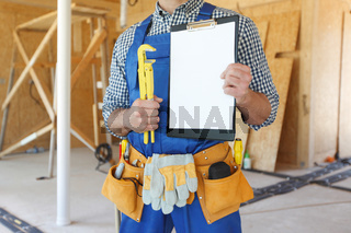 Workman with adjustable wrench