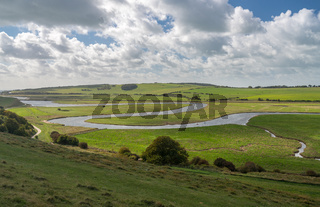Meandering Cuckmere River at Seven Sisters Country Park