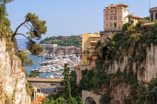 View from the railway station - Monaco