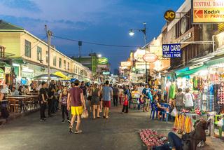 Khao San road in central Bangkok