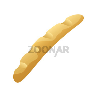 Vector illustration of French baguettes isolated on a white background