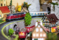 Detail of a model railway system