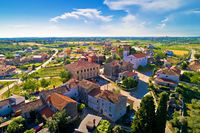 Village of Nova Vas in Istria aerial view