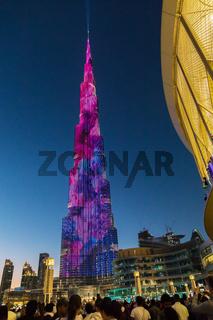 Burj Khalifa in Abendstimmung,  Dubai