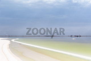 beautiful salt pan landscape,