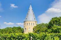 Florsheimer look-out in the vineyards of Wicker, Germany