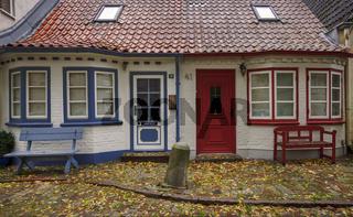 Doppelhaus in Eckernfoerde - Farbkontraste