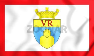 3D Flag of Victoria, Malta. 3D Illustration.