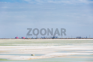qarhan salt lake industrial landscape
