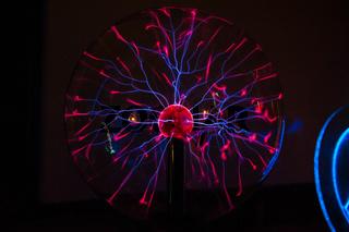 Electric plasma in glass sphere