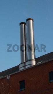 Modern looking chimneys