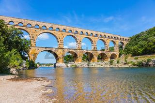 Aqueduct Pont du Gardon in Provence