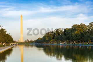 The monument to George Washington and the National Mall in Washington D.C.
