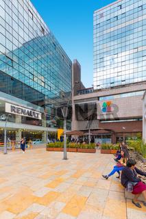 Bogota city commercial and financial center entrance