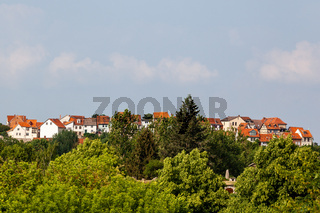 Blick auf den Münzenberg in Quedlinburg
