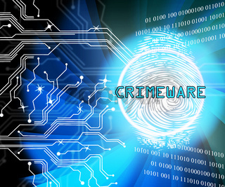 Crimeware Digital Cyber Hack Exploit 2d Illustration