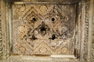 JAVARI TEMPLE, Mandapa - Ceiling, Eastern Group, Khajuraho, Madhya Pradesh, UNESCO World Heritage Site