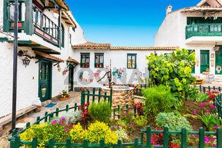 Tenza typical traditional colorful houses