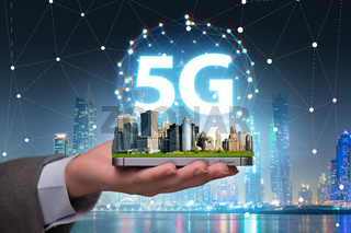 5g concept of internet connection technology