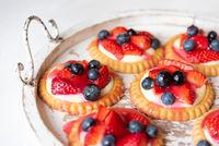 Strawberry&blueberry tarts