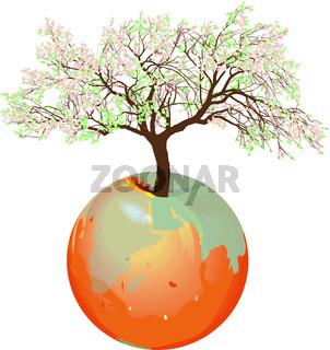 Earth - Apple tree.eps
