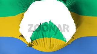 Big hole in Gabon flag
