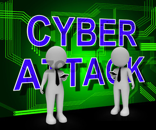 Cyber Attack Prevention Security Firewall 3d Illustration