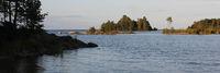 Late summer day at Lake Vanern Sweden. Idyllic landscape.