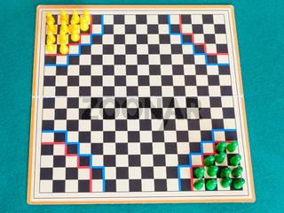 gameboard of Halma strategy board game