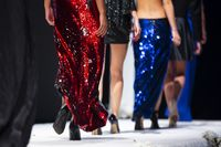 Fashion women models runway show