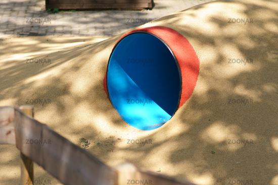 Toddler pipe on playground