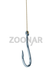 fishing hook isolated on white background